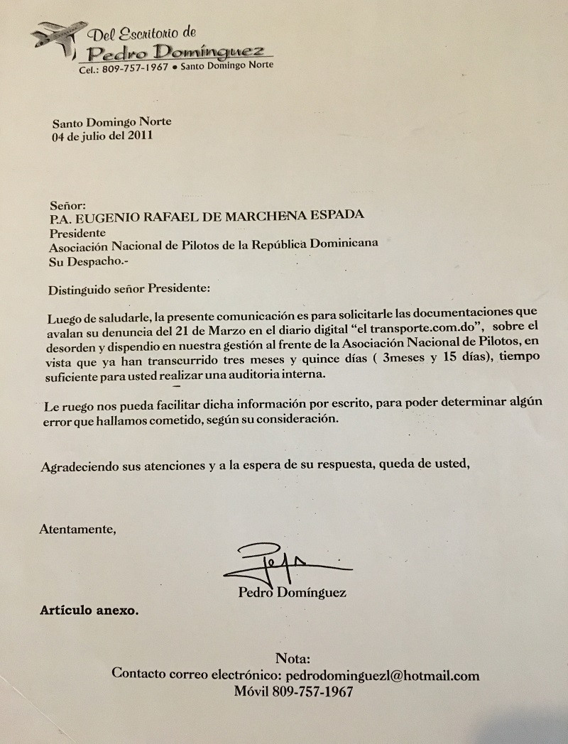 Carta a Marchena